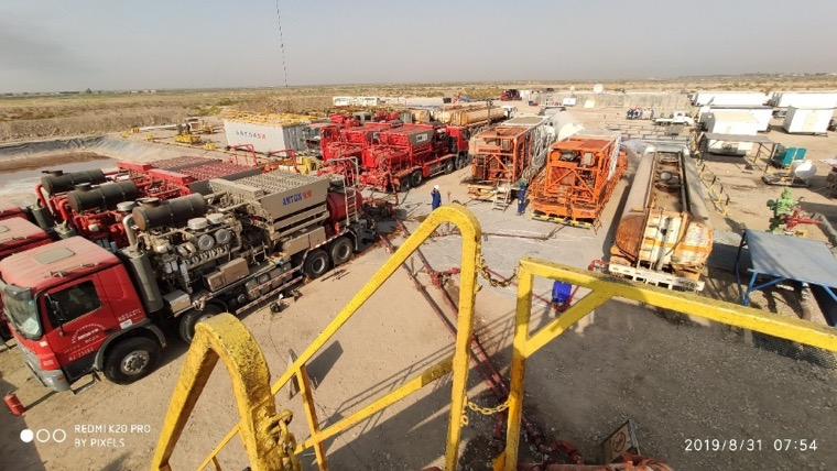 First energized acid fracturing technique  with nitrogen in Halfaya oilfield was implemented successfully