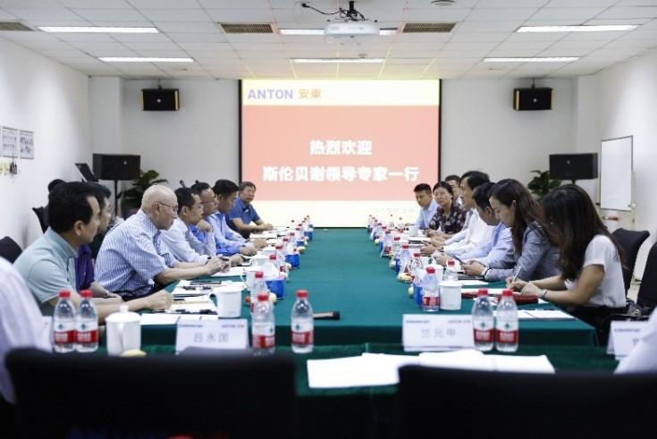 Cooperative meeting between Anton and Schlumberger was held successful in Beijing