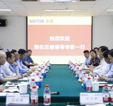 Cooperative meeting between Anton and Schlumberger was held successful in Beijing