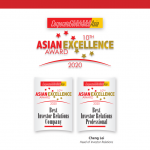 Anton won two awards in the Corporate Governance  Asia-Asian Excellence Award 2020